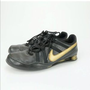 Nike Shox 2006 Rival Black Leather Running Shoes